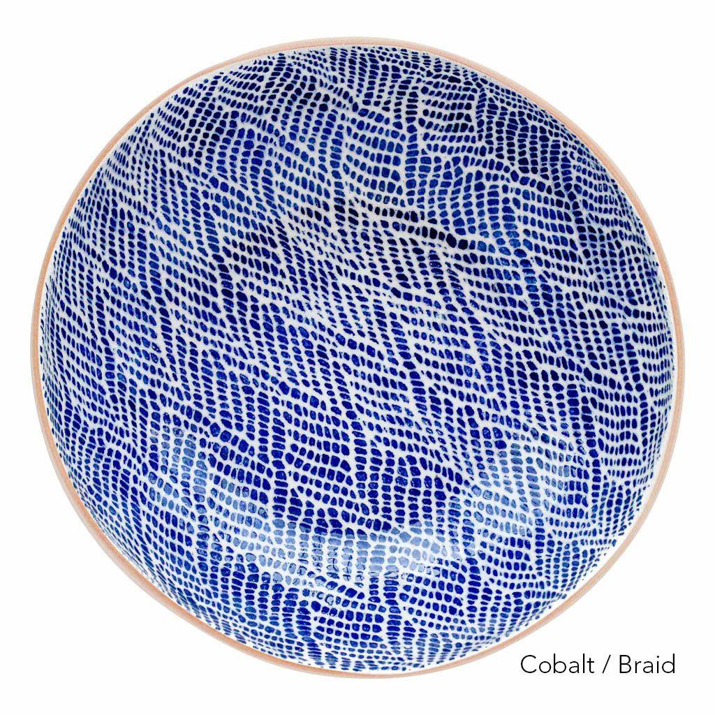 Terrafirma Ceramics Medium Serving Bowl (Cobalt/Braid)