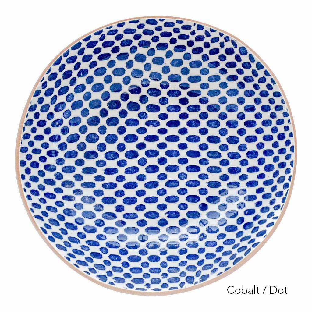 Terrafirma Ceramics Medium Serving Bowl (Cobalt/Dot)