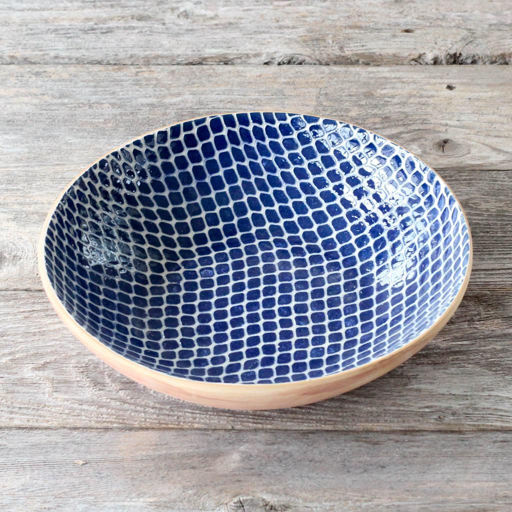 Terrafirma Ceramics Medium Serving Bowl (Cobalt/Taj)