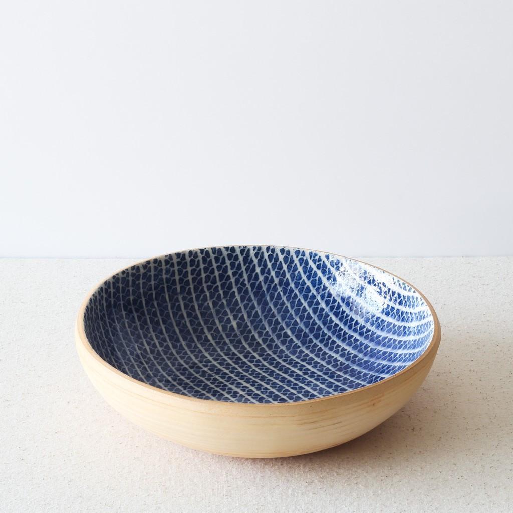 "Terrafirma Ceramics - 8"" Bowl (Cobalt)"
