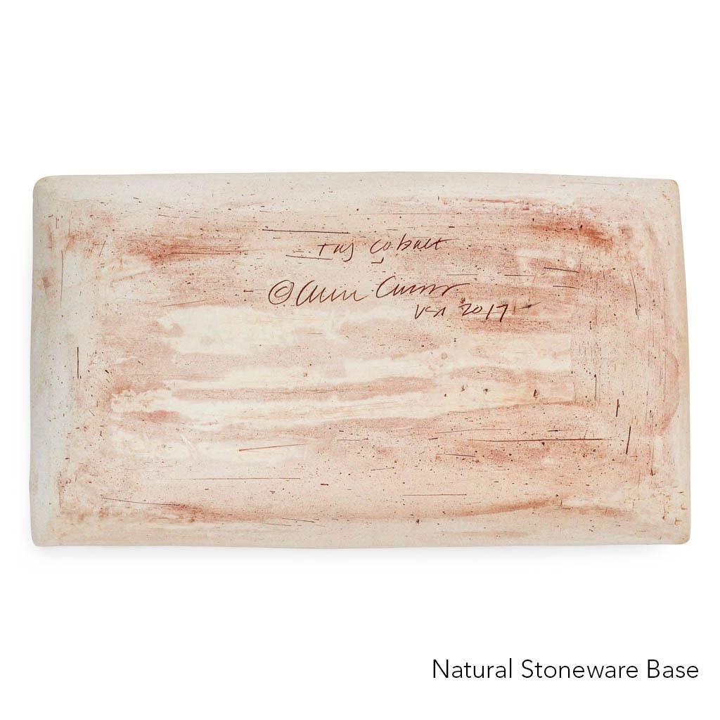 Natural Stoneware Base of Terrafirma Ceramics Medium Stacking Platter (Cobalt/TaJ)