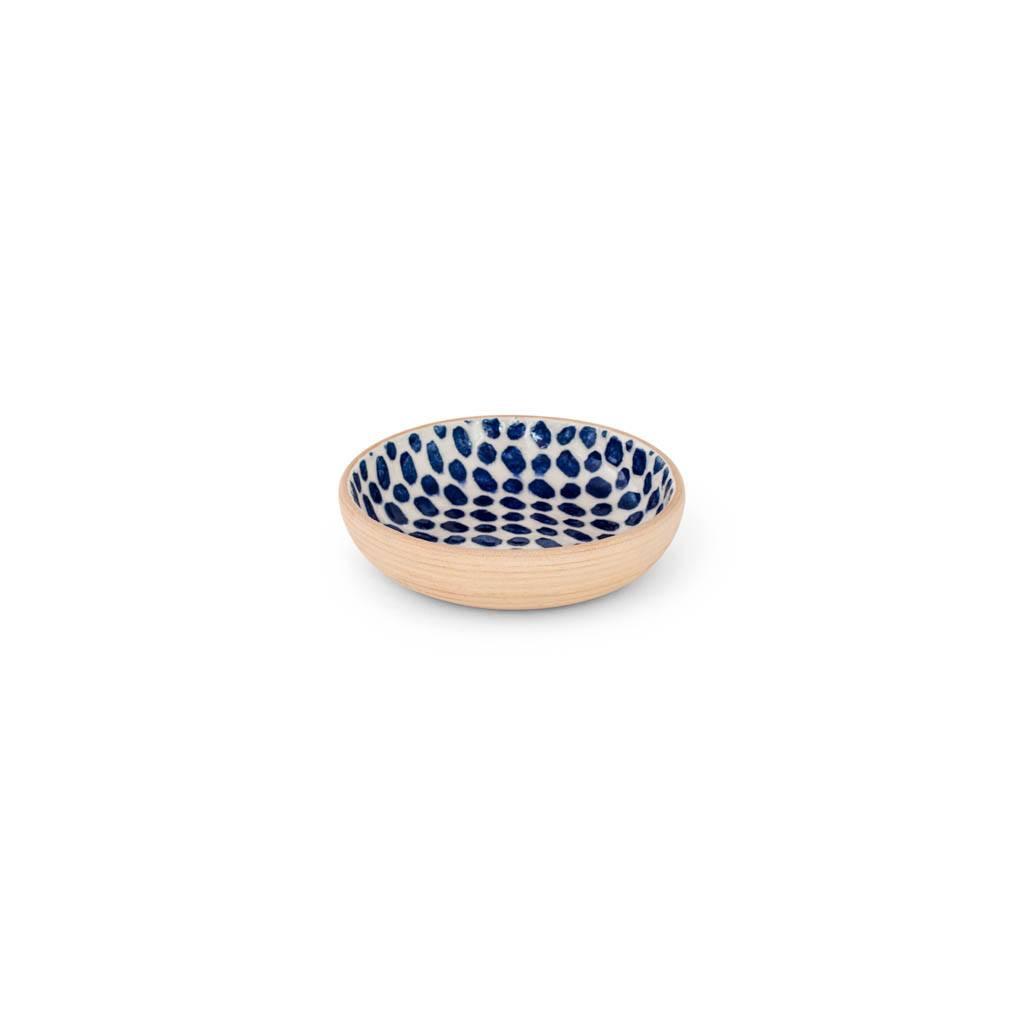 Terrafirma Ceramics Fruit Dessert Bowl (Cobalt/Dot)