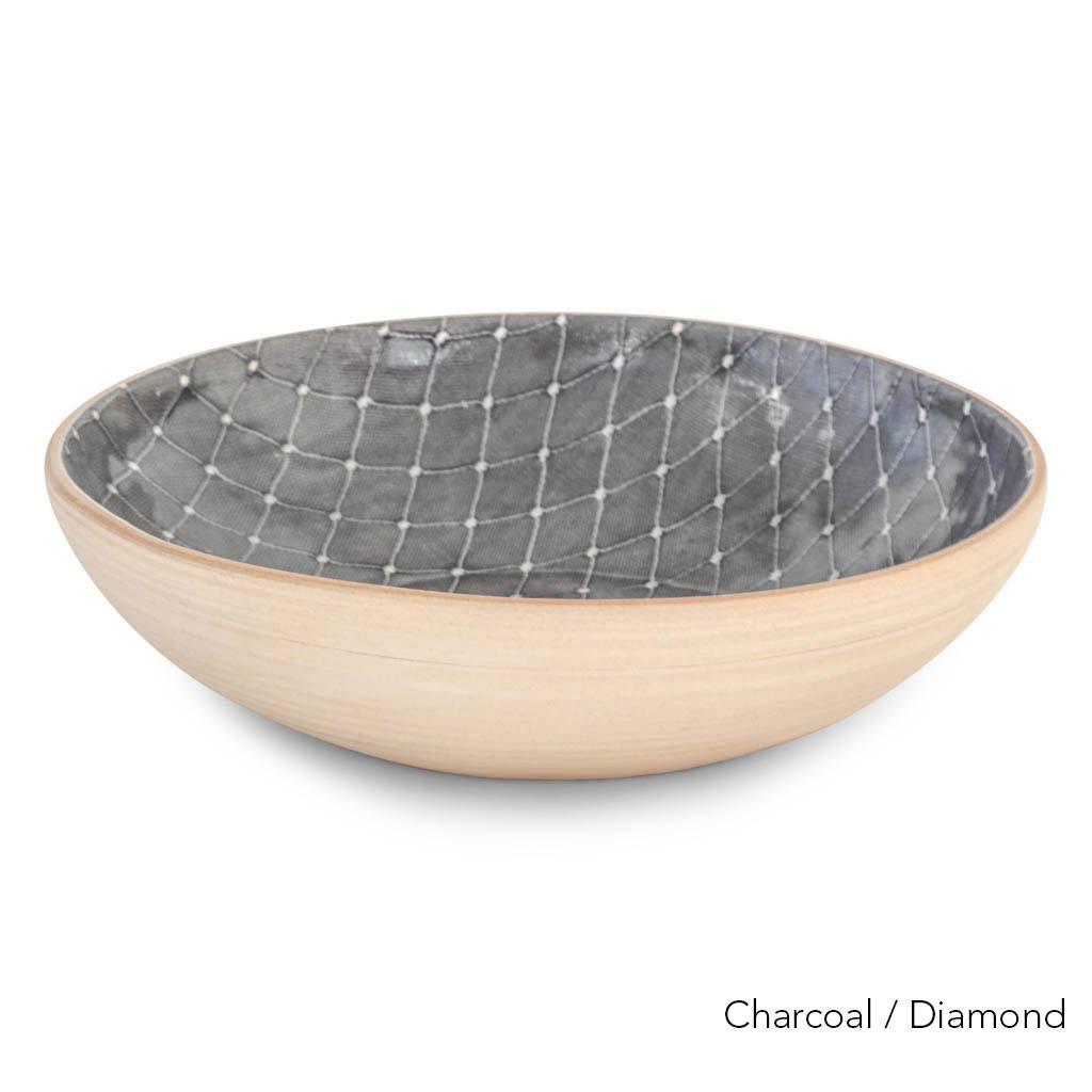Terrafirma Ceramics  - Medium Serving Bowl (Charcoal/Diamond)