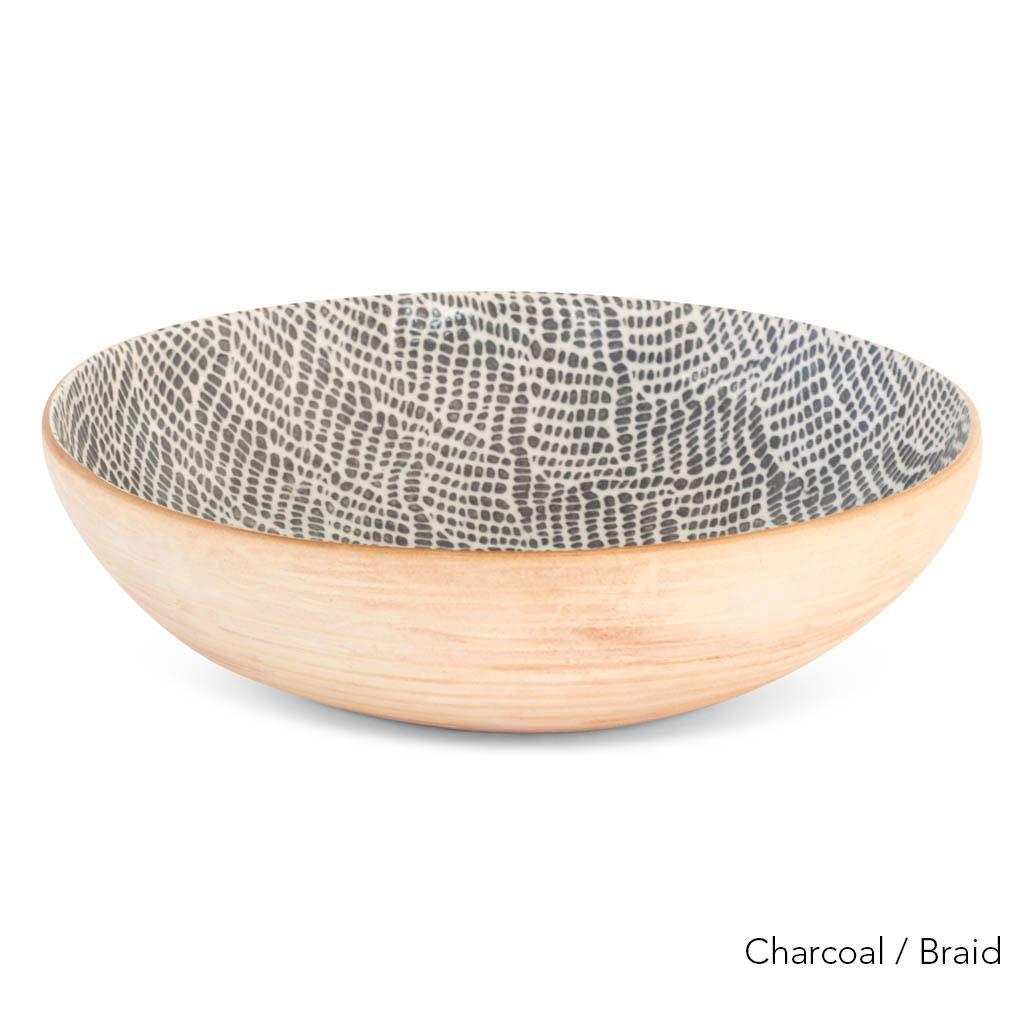 Terrafirma Ceramics  - Medium Serving Bowl (Charcoal/Braid)
