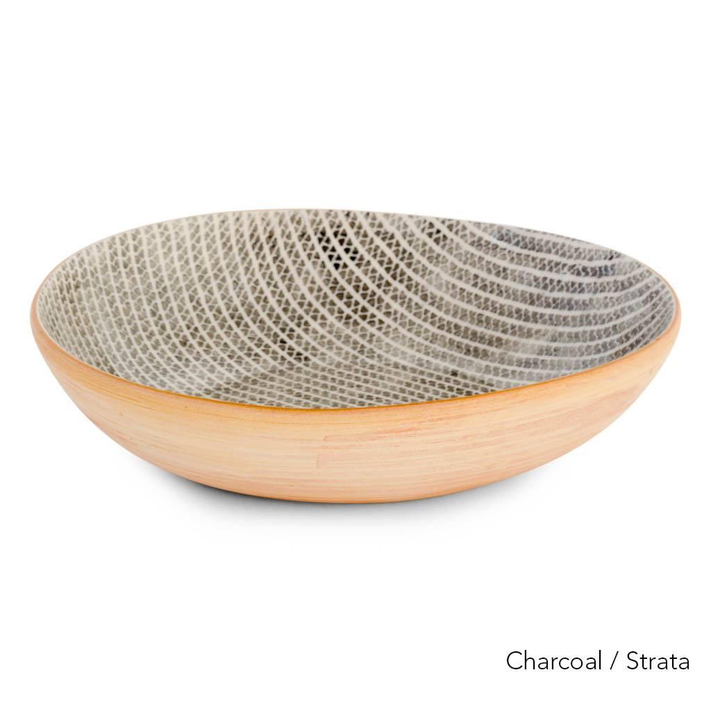 Terrafirma Ceramics  - Medium Serving Bowl (Charcoal/Strata)