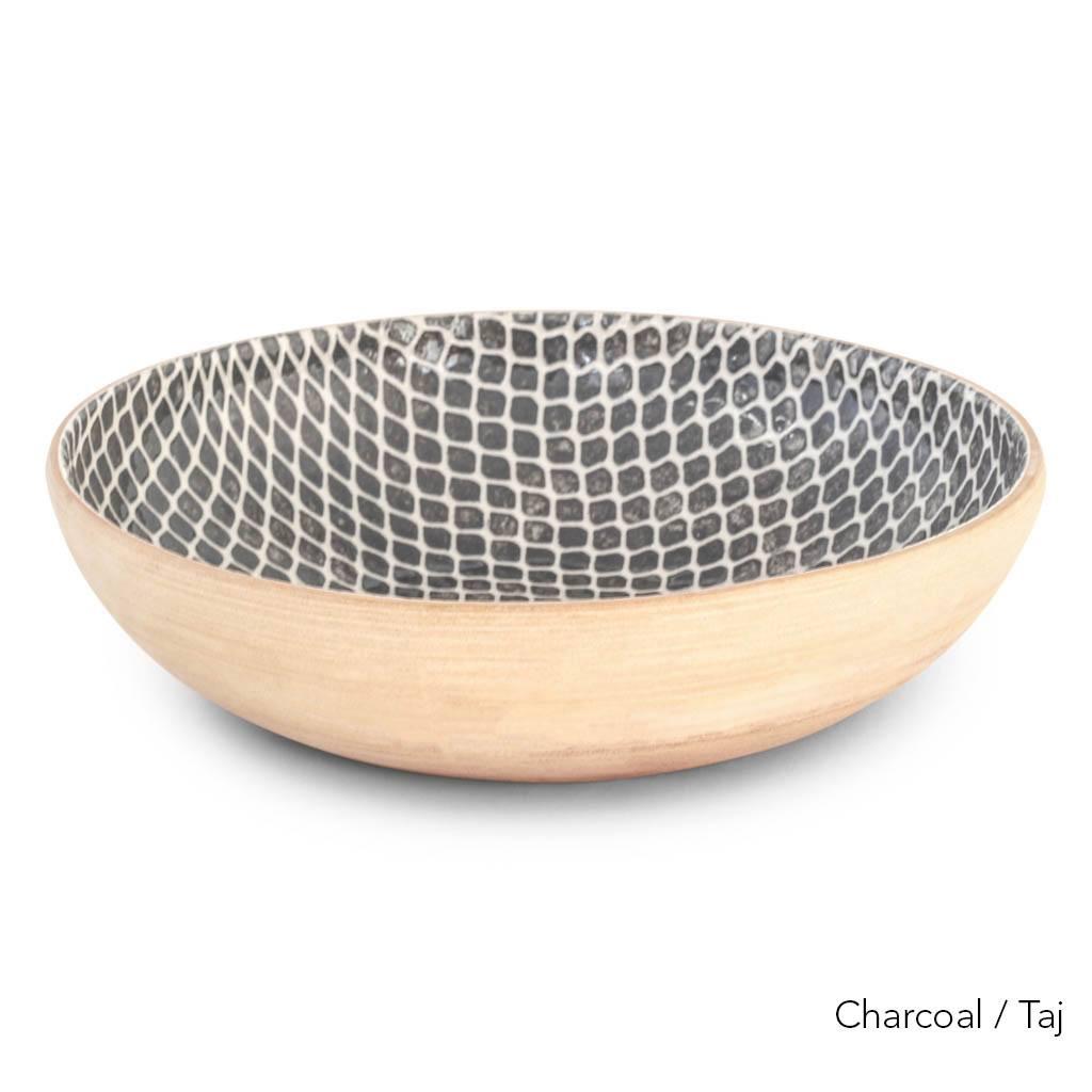Terrafirma Ceramics  - Medium Serving Bowl (Charcoal/Taj)