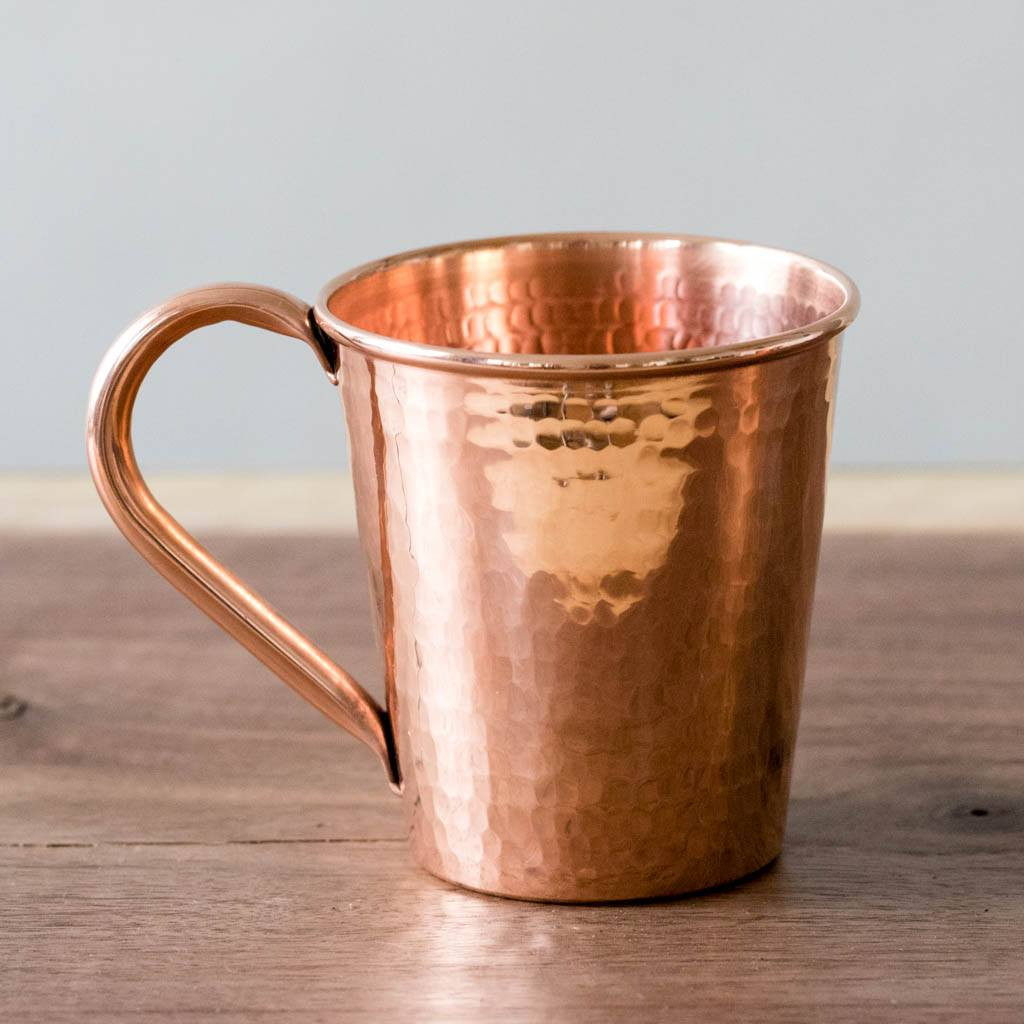 Hammered Copper Moscow Mule Mug by Sertodo Copper (Copper Handle - 18 ounce)