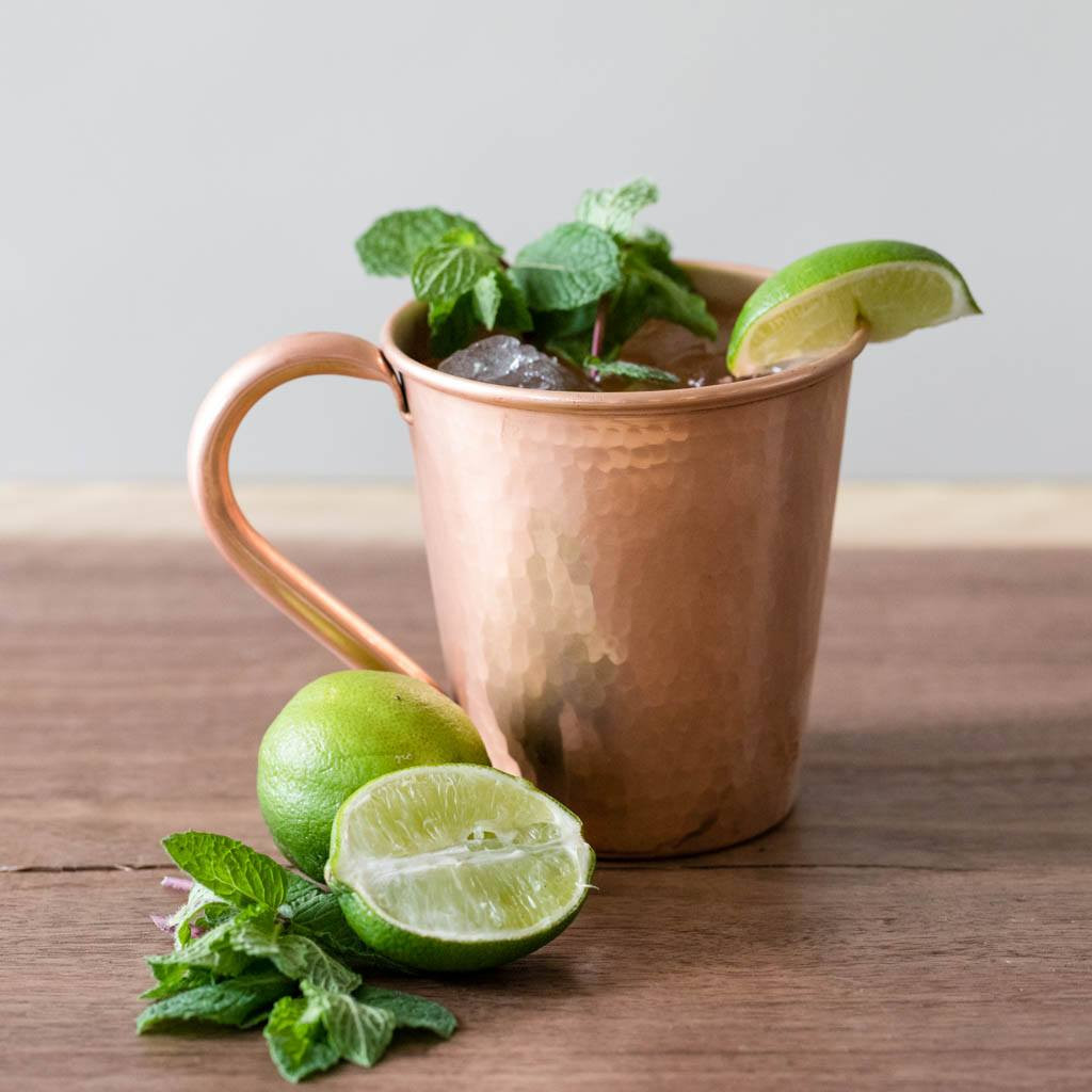 Copper Moscow Mule Mug by Sertodo Copper (Copper Handle - 18 ounce)