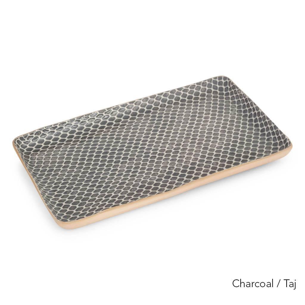 Terrafirma Ceramics Large Stacking Rectangular Tray (Charcoal/Taj)