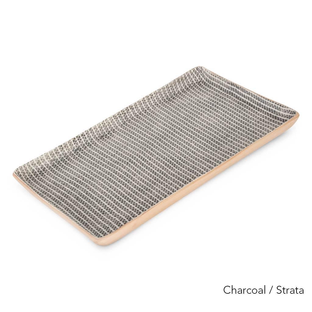 Terrafirma Ceramics Large Stacking Rectangular Tray (Charcoal/Strata)