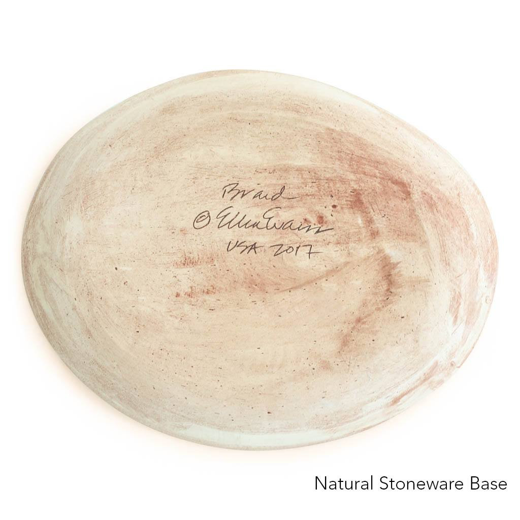 Natural Stoneware Base of Terrafirma Ceramics Small Oval (Charcoal/Braid)