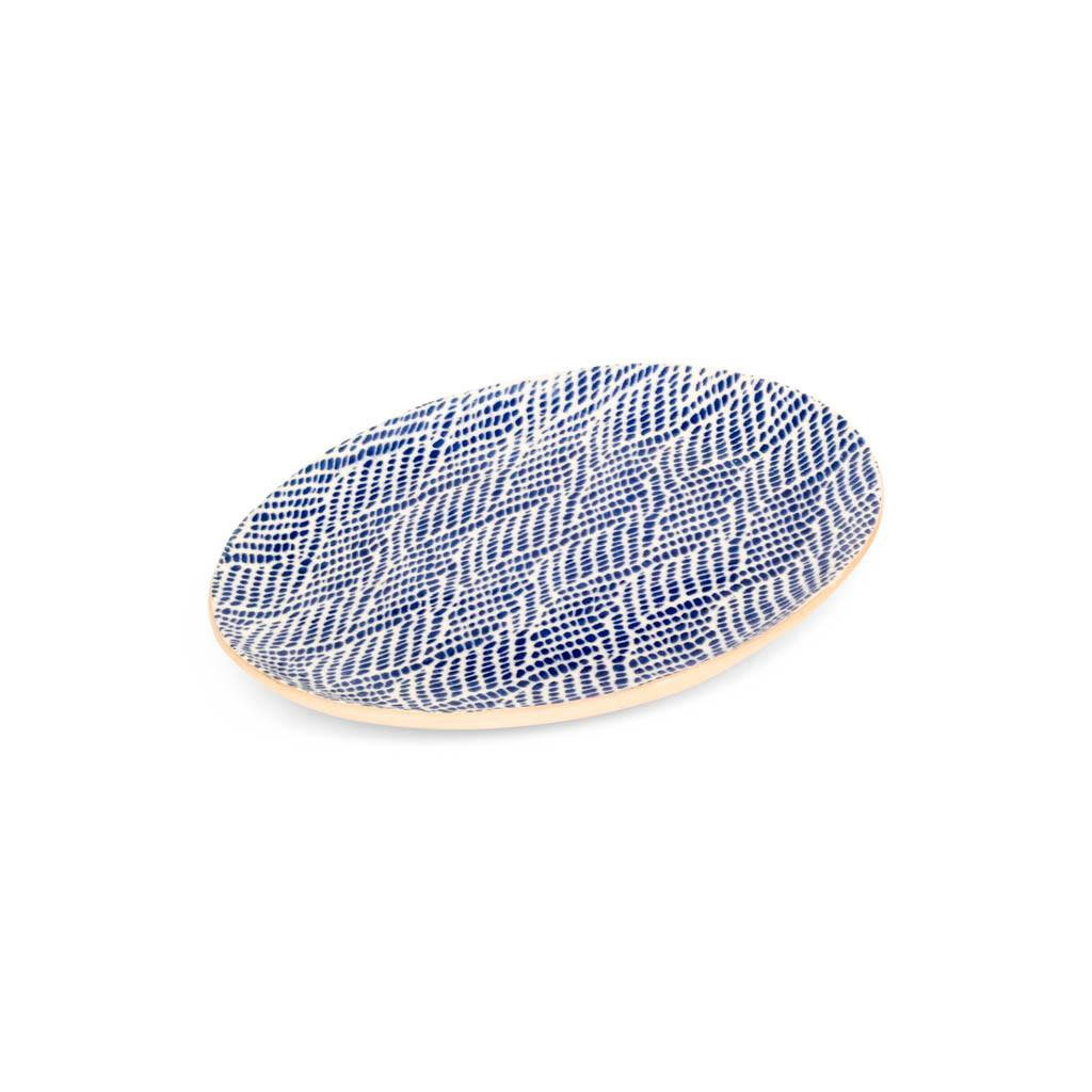 Terrafirma Ceramics Small Oval (Cobalt/Braid)