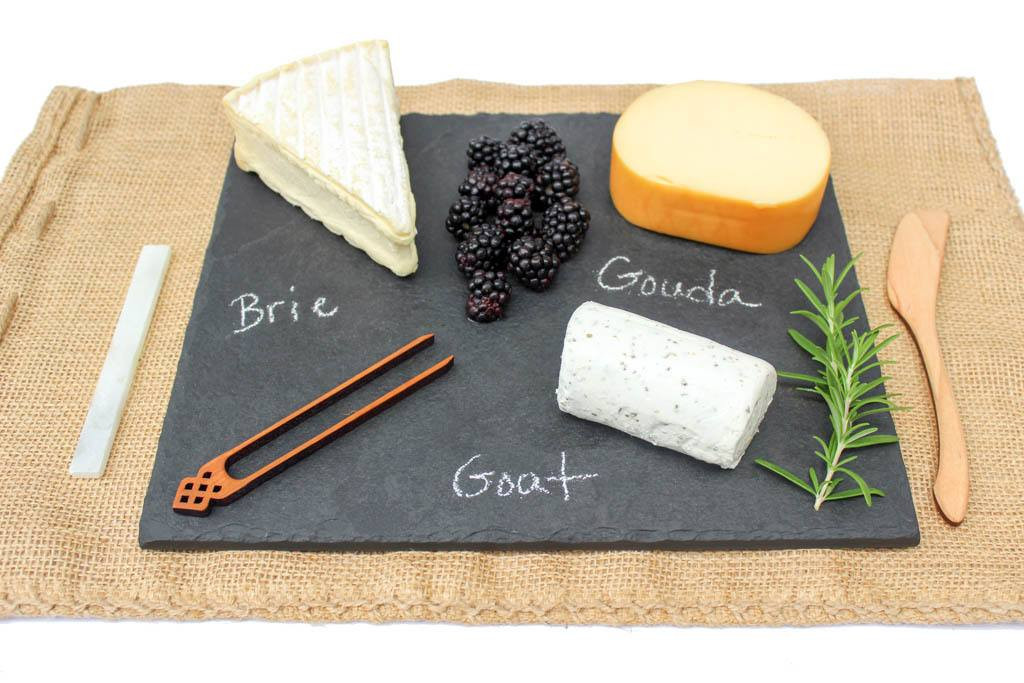 "Slate Cheese Board (10"" x 12"" - Black) by Rock Timber"