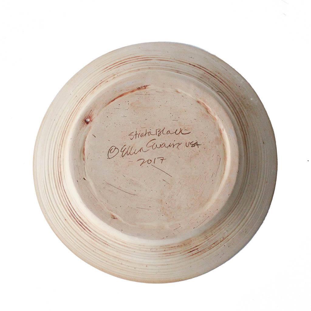 Natural Stoneware Base of Terrafirma Ceramics Flared Bowl (Black/Strata)