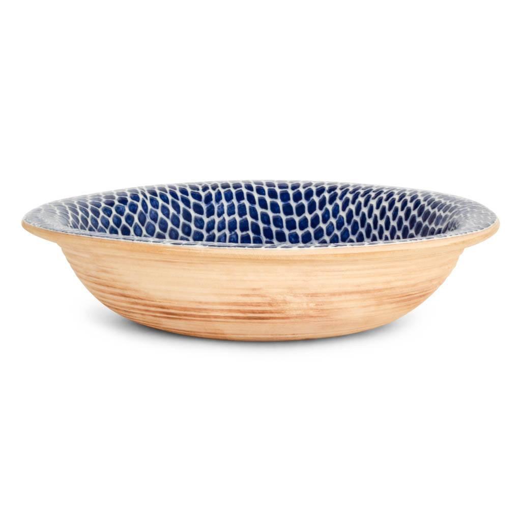 Terrafirma Ceramics - Large Serving Bowl (Cobalt/Taj) - Profile