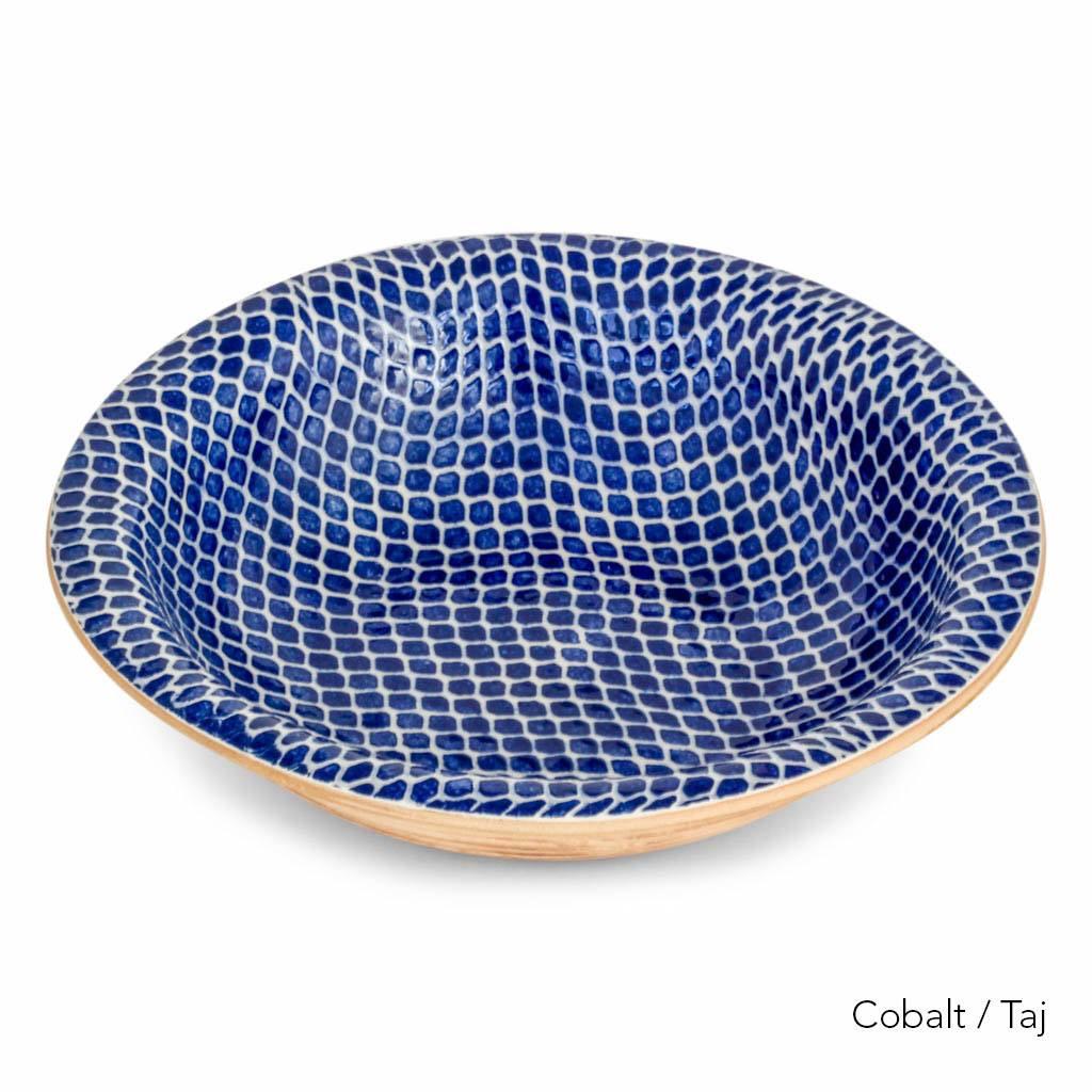 Terrafirma Ceramics - Large Serving Bowl (Cobalt/Taj)