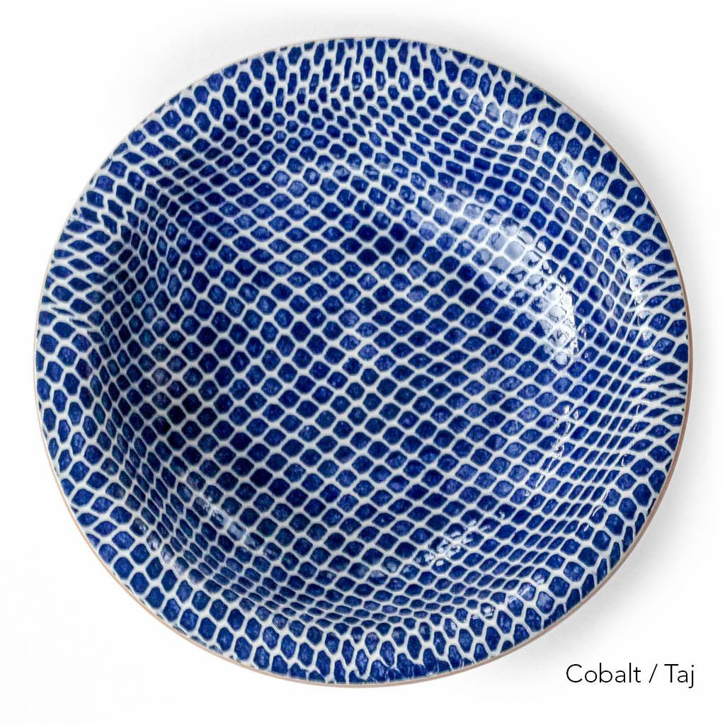 Terrafirma Ceramics - Large Serving Bowl (Cobalt/Taj) - Top