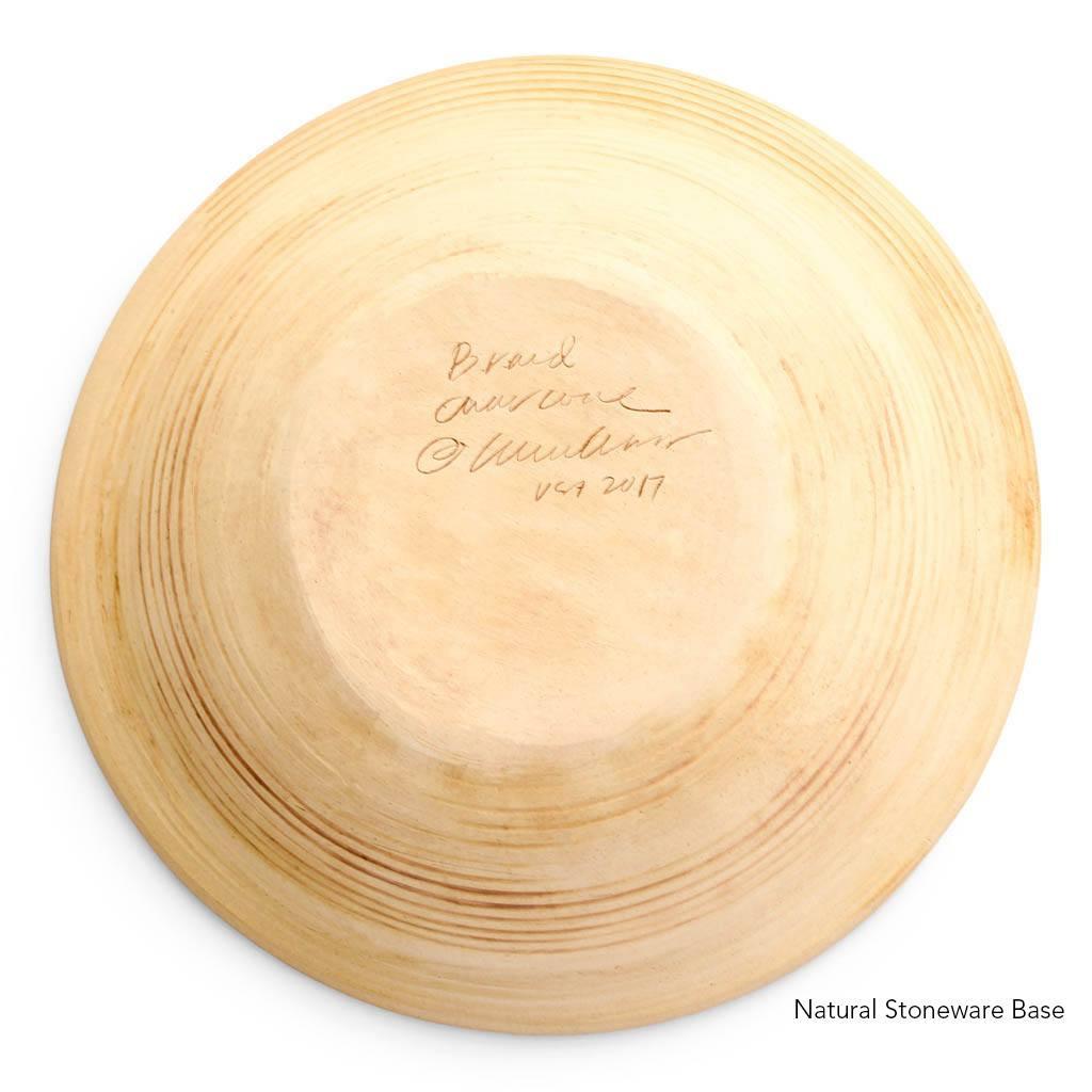 Natural Stoneware base of Terrafirma Ceramics Large Serving Bowl (Charcoal/Braid)
