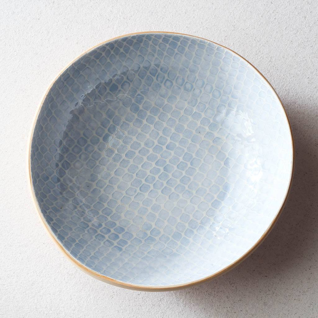 Top of Terrafirma Ceramics Medium Serving Bowl (Opal/Taj)