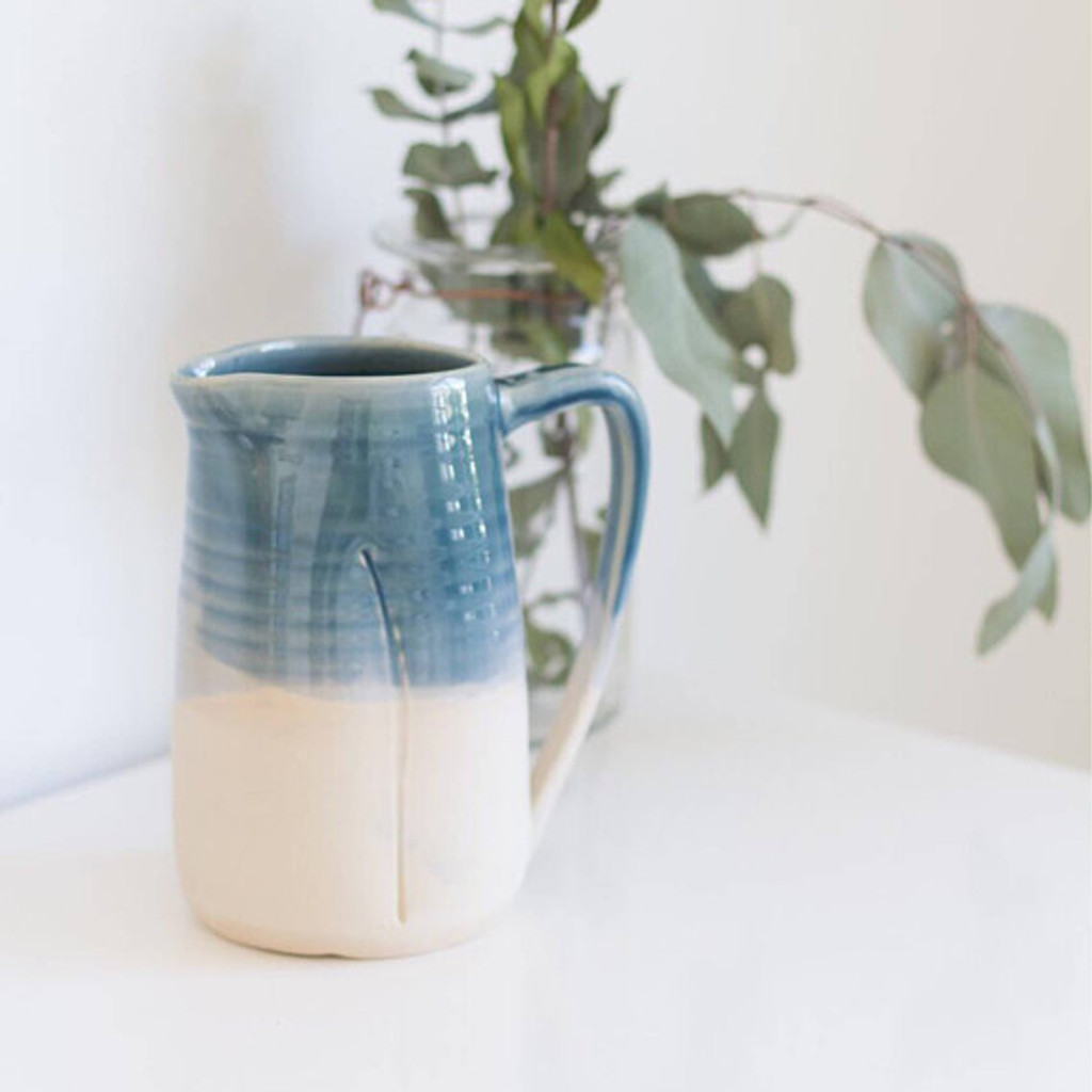 Ceramic Water Pitcher by Lafayette Avenue Ceramics  (Ocean)