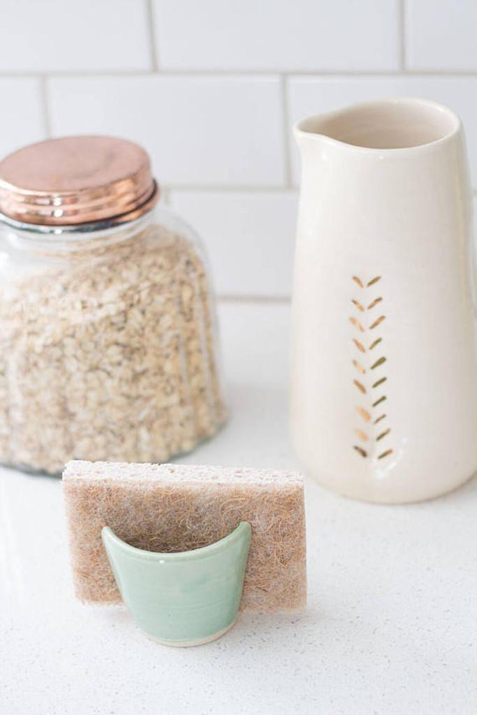 Ceramic Gold Accent Pitcher by Lafayette Avenue Ceramics