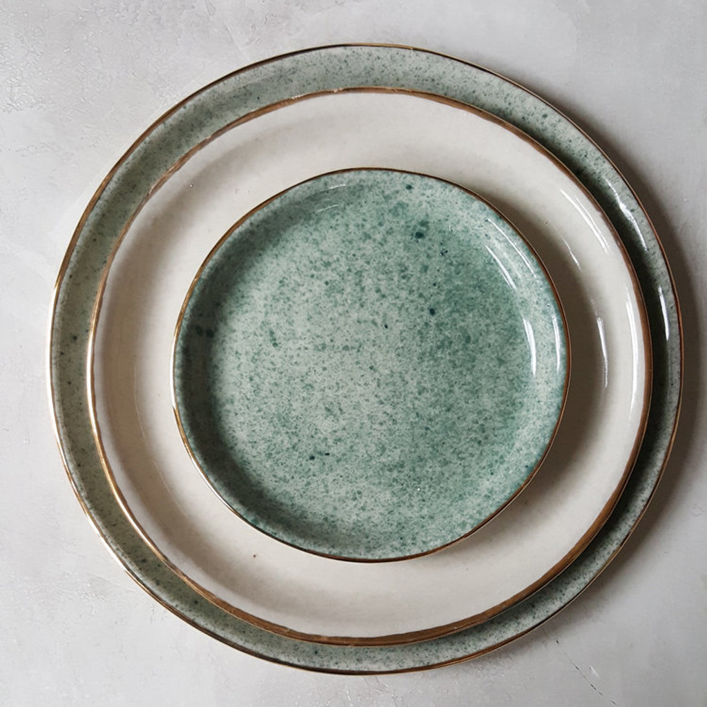 Apricity Ceramics - Dew Collection Dinnerware set (Green)