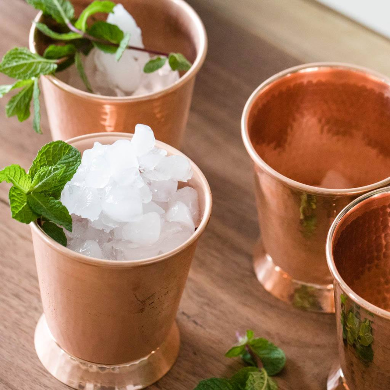 Hammered Copper Mint Julep Cups by Sertodo Copper