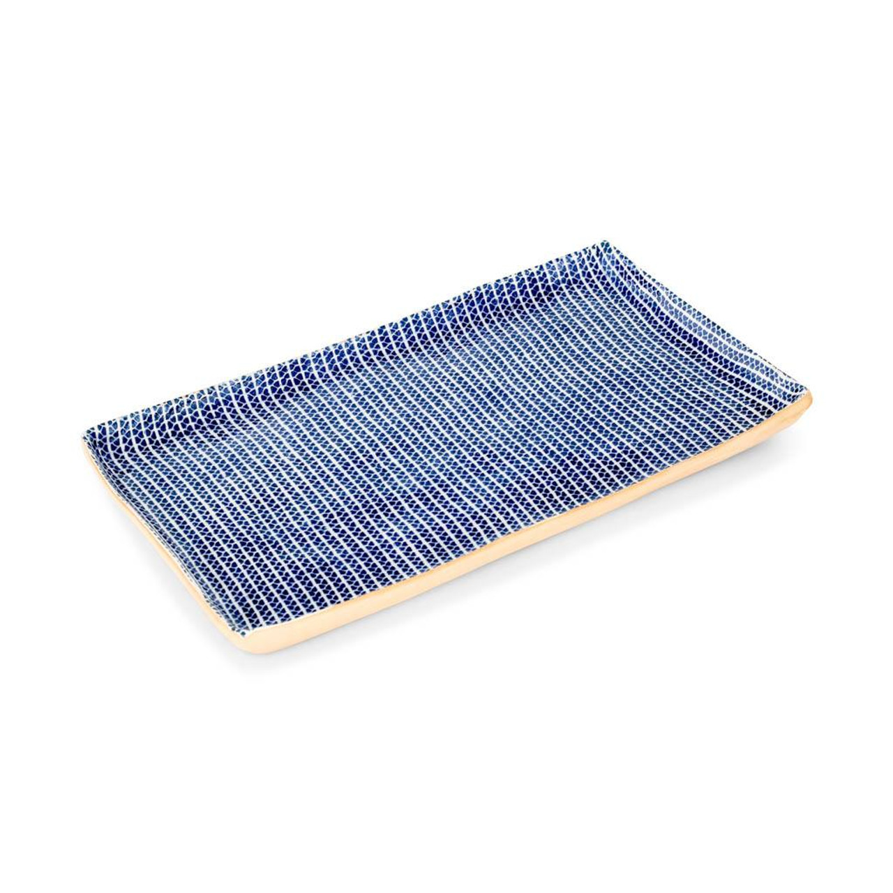 Terrafirma Ceramics Large Stacking Rectangular Tray (Cobalt/Strata)