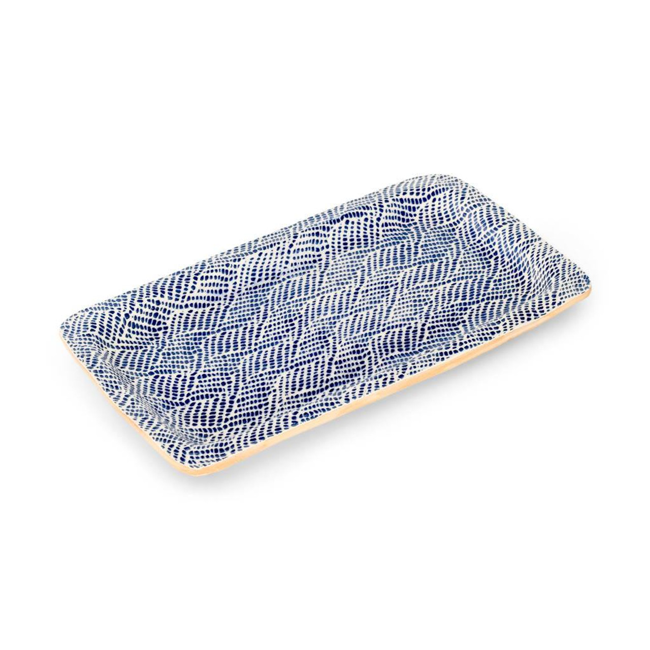 Terrafirma Ceramics Large Rectangle Tray (Cobalt/Braid)