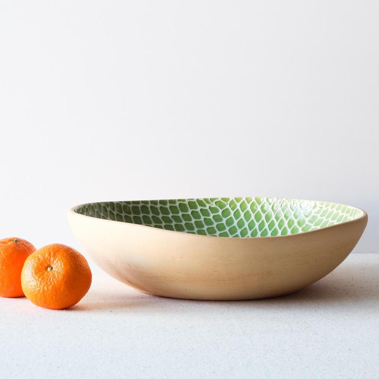 Terrafirma Ceramics Medium Serving Bowl (Citrus/Taj) with oranges