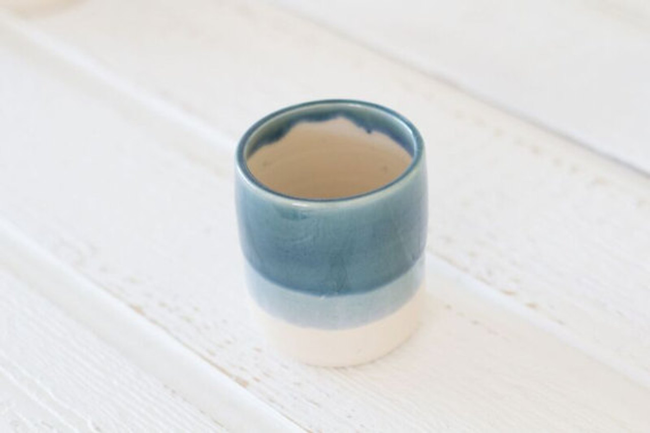Ceramic Tumbler Cup by Lafayette Avenue Ceramics (Tide)