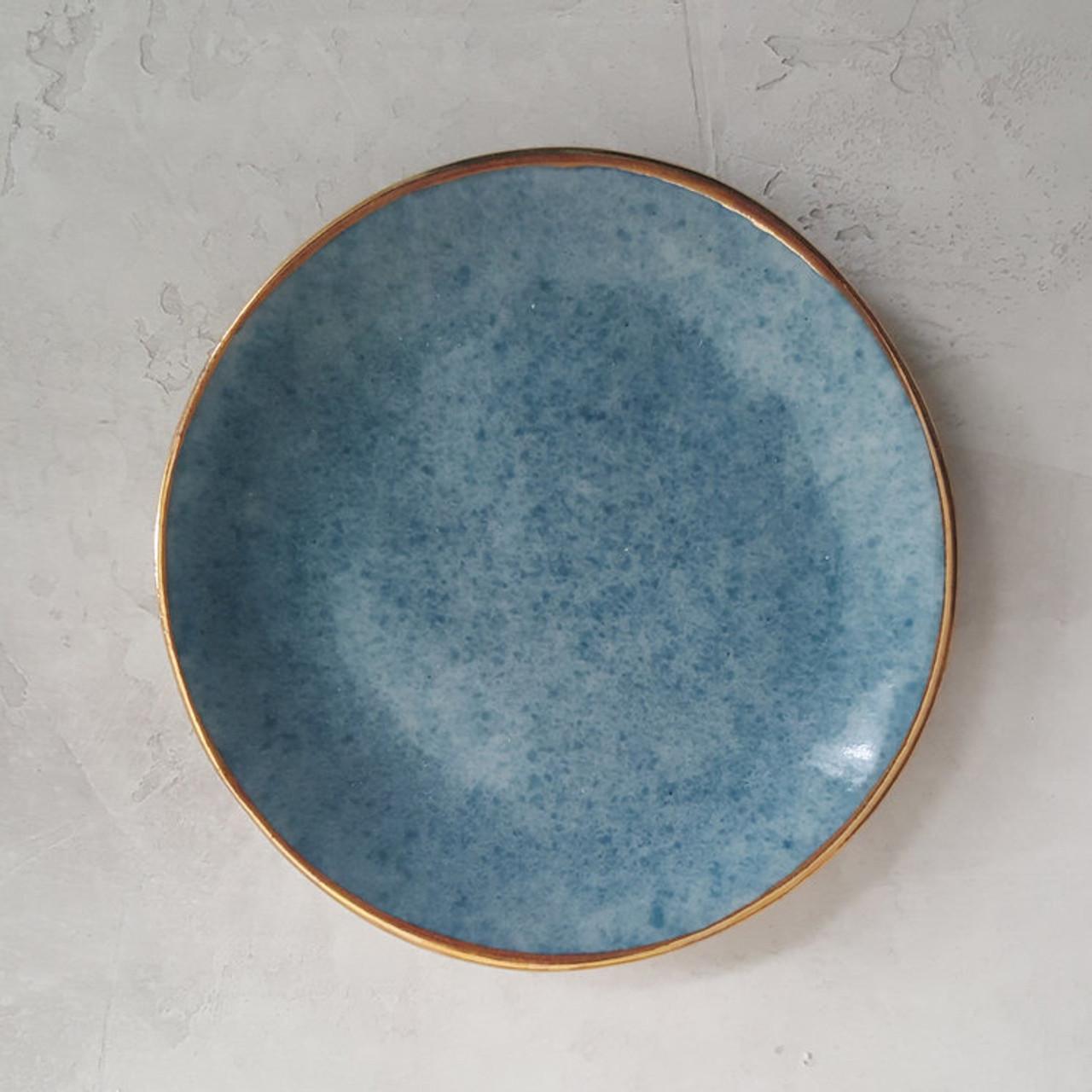 Apricity Ceramics - Dew Collection Trinket Dish (Blue)