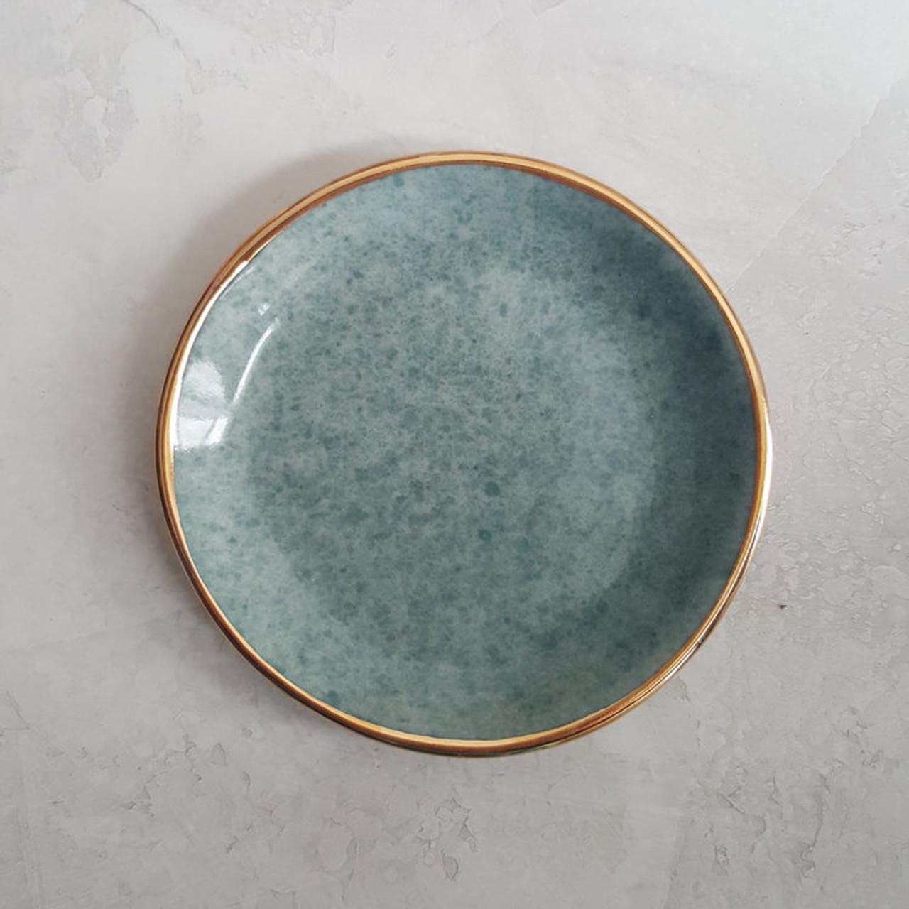 Apricity Ceramics - Dew Collection Trinket Dish (Green)
