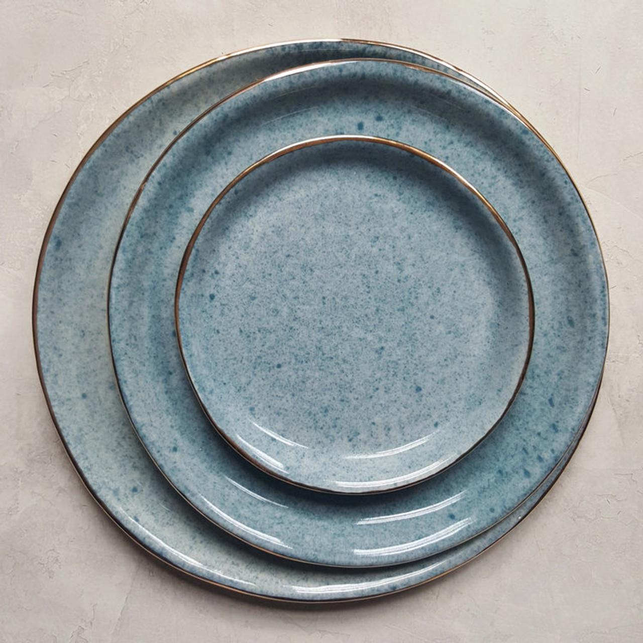 Apricity Ceramics - Dew Collection Dinnerware set (Blue)