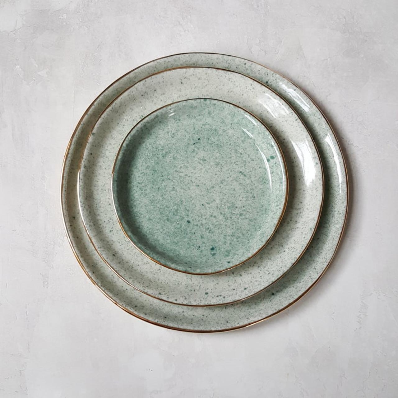 Apricity Ceramics - Dew Collection Dinnerware set (Green)