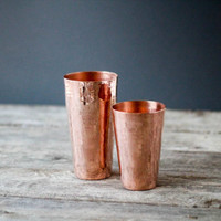 The Sertodo Copper Shaker set includes a 30 ounce cup and an 18 ounce cup