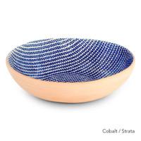 Terrafirma Ceramics Medium Serving Bowl (Cobalt/Strata)