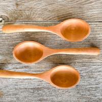 Handmade cherry ladles by Rockledge Farm Woodworks