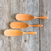 Handmade Curved Spatulas by Rockledge Farm Woodworks