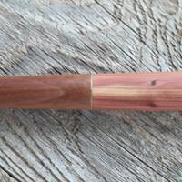 Brass inlay on a Hand Carved Tasting Spoon (Walnut, Brass and Purple Cedar) Four Leaf Wood Shop