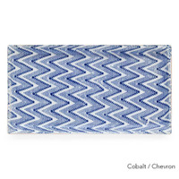 Terrafirma Ceramics - Handmade Ceramic Stacking Serving Platter Chevron Cobalt (Small)