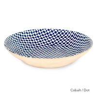 "Terrafirma Ceramics 16"" Centerpiece Bowl - Cobalt/Dot"