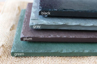 Slate Cheese Board (Black, Gray, Plum, Green) by Rock Timber