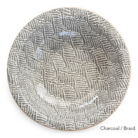 Top view of Terrafirma Ceramics Large Serving Bowl (Charcoal/Braid)