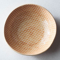 Top of Terrafirma Ceramics Medium Serving Bowl (Apricot/Taj)