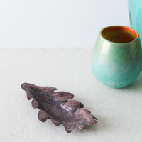 Handmade Copper Leaf Incense Holder by Brasscopper (Arianna Morales)