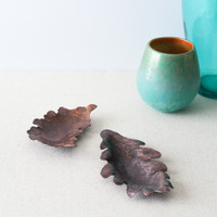 Handmade Copper Leaf Incense Holders by Brasscopper (Arianna Morales)