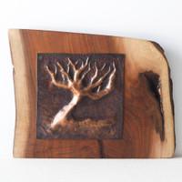 Original Artwork - Tree On A Tree (Copper on Walnut) by Brasscopper (Arianna Morales)