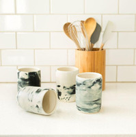 Marble Glazed Tumblers by Lafayette Avenue Ceramics