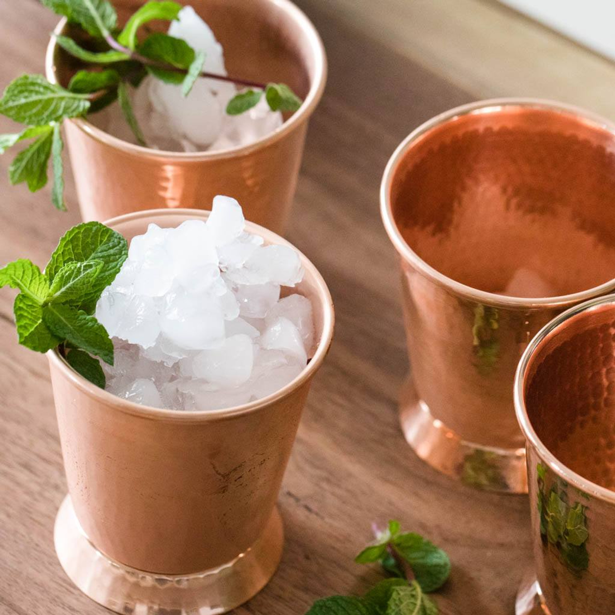 Artisan crafted hammered copper derby mint julep cups by sertodo hammered copper mint julep cups by sertodo copper reviewsmspy